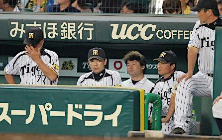 プロ野球・沈む阪神ベンチ(時事通信) - 写真 - Yahoo!ニュース