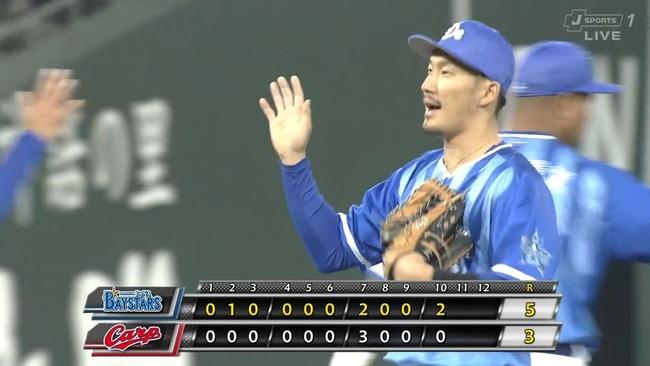 横浜DeNA、首位広島に2連勝!梶谷が延長十回に勝ち越しタイムリー