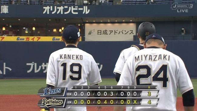 【復活】オリックス金子千尋、4安打3失点完投で4勝目!!