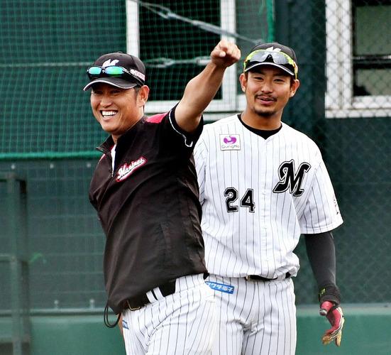 鶴岡一成コーチ20180527