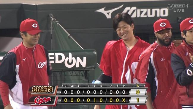 広島・大瀬良が7回無失点で今季初勝利!巨人・宮國との投手戦を制する