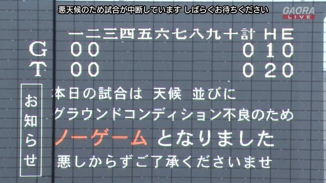 【悲報】甲子園ノーゲーム