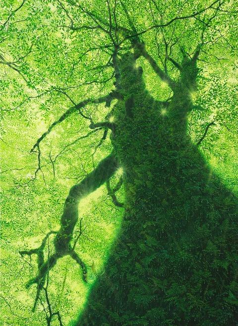 04作品)苔生す緑の木
