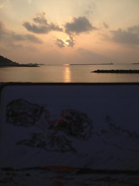戸賀海水浴場スケッチ1