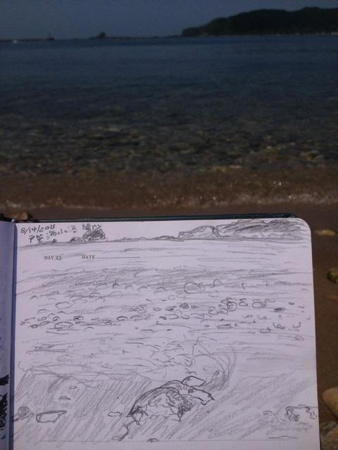 戸賀海水浴場スケッチ2