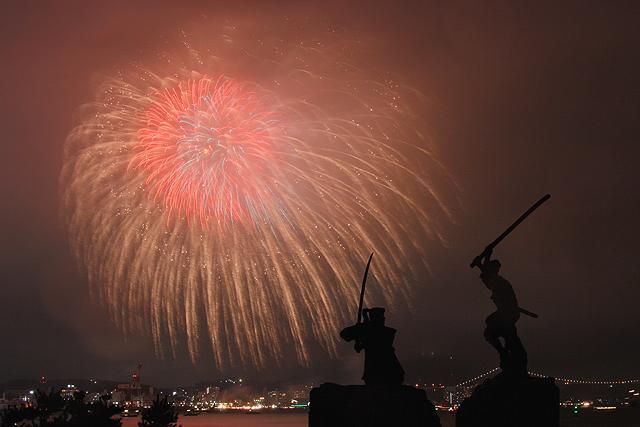 """『アジアポートフェスティバル in KANMON """"2009"""" 第22回関門海峡花火大会』コメント:"""