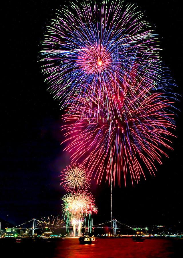 第30回関門海峡花火大会フォトコンテスト』 : 光の情景 - kyushu ...