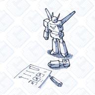 ロボ玩具_紙とロボ