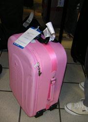 ピンクのカバン