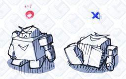 ロボ玩具_立つと倒れる_logo_g