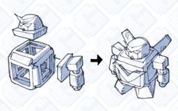 ロボ玩具_展開ロボ01