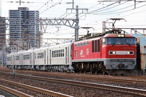 甲195 EF510-19 8561レ(JR東 GV-E400 系)