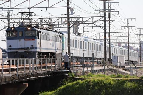 甲65 EF65 2075 9866レ(東京メトロ13000系)