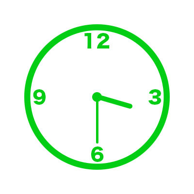 時計(15時30分)
