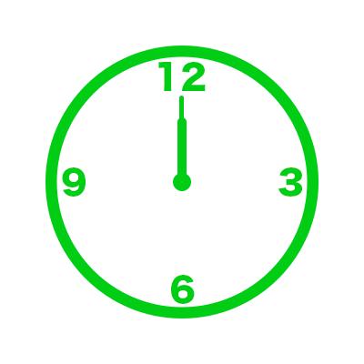 時計(12時)
