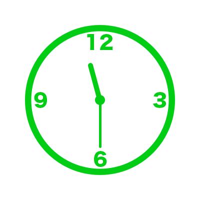時計(11時30分)