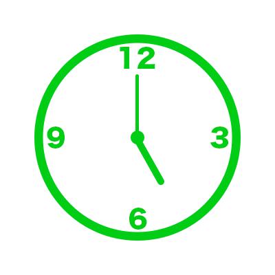 時計(17時)