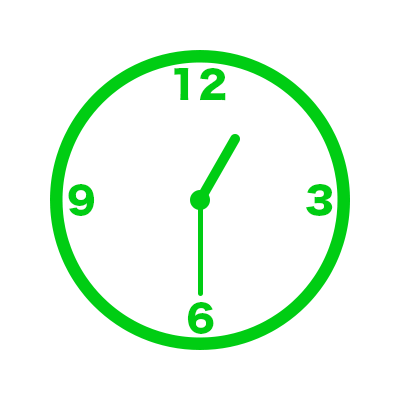 時計(13時30分)