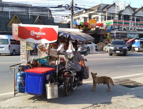 motorbike drink stall