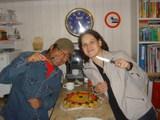 誕生日ケーキとペトラ健太郎