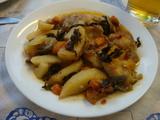 白身魚の野菜煮込み