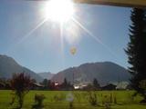 気球が飛ぶ眺め