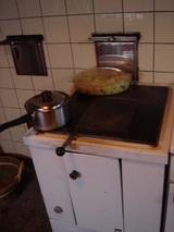 キッチンは薪で