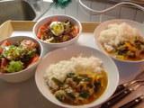 豚肉の野菜炒め中華風&サラダ