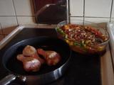 チキンとペパロニソース