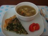 キッシュとスープ