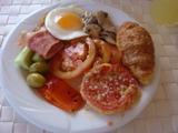 朝から食べる