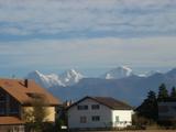 山が遠くに見えるよ