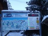 スキー場案内板