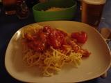 チキンとパプリカのトマトソース