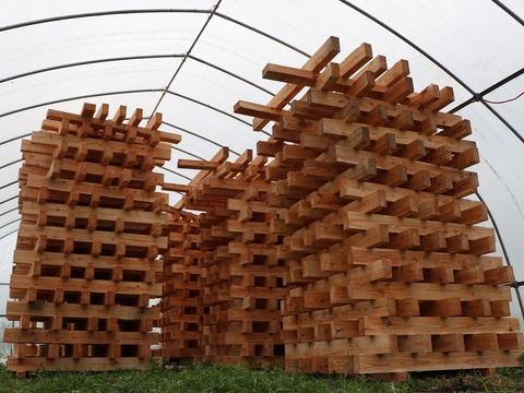 たまには山へ恩返しinトムラウシ用の木材が到着!