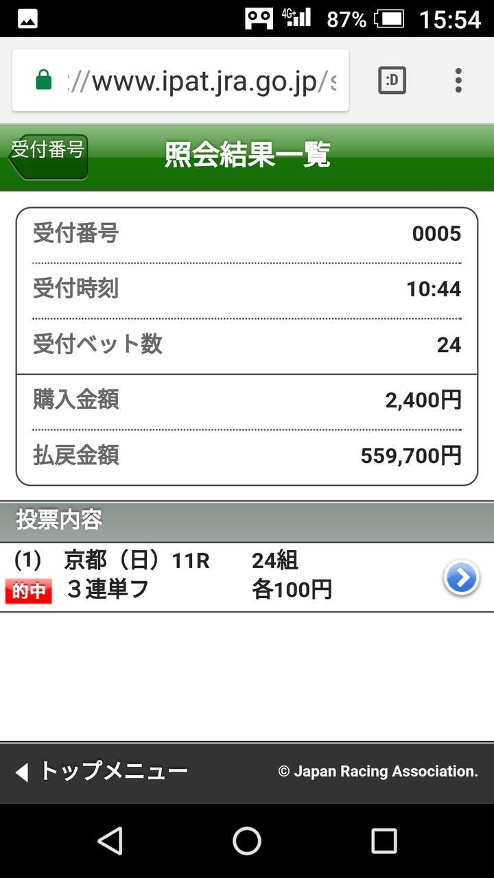 20171022菊花賞56万