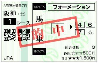 20180623阪神1R馬単
