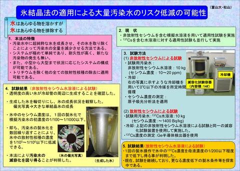 氷結晶の適用による汚染水減容化1
