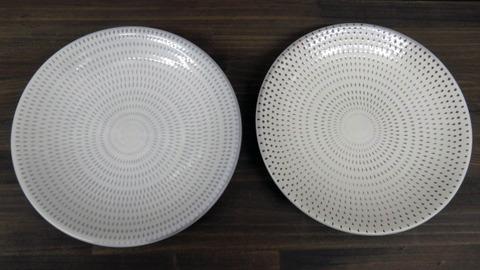 小石原焼 トビカンナ7寸皿 トビカンナ21cm皿