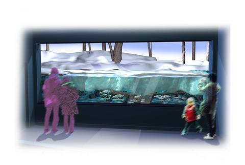 四季水槽 氷結水槽冬パース
