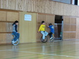 一輪車特訓中!