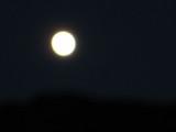 駒ヶ根の空に月。