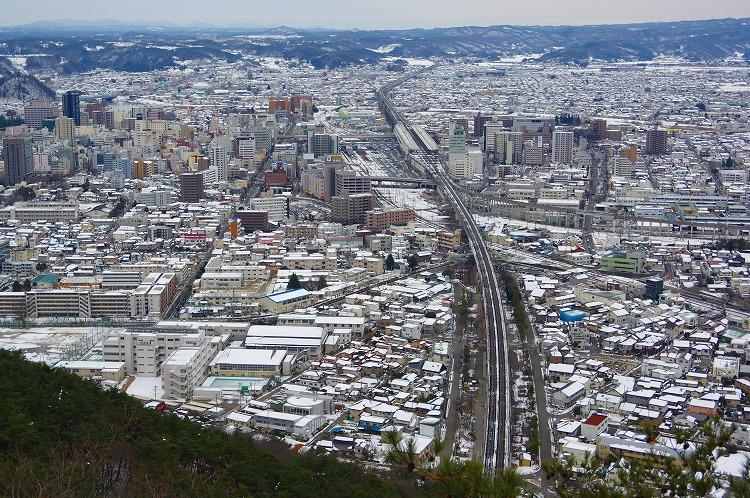 2016.1.23 信夫山(福島県・福島...