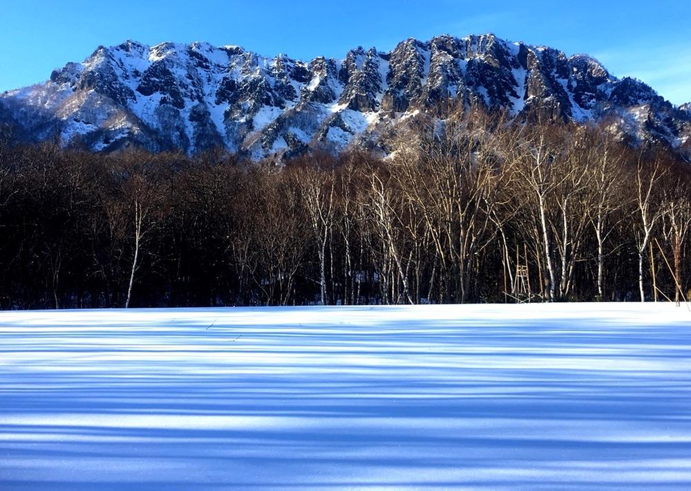 冬の戸隠連峰