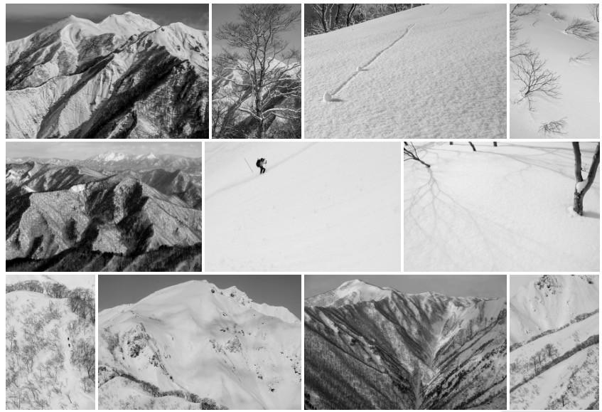 雪の谷川岳「美しい日本の風景」