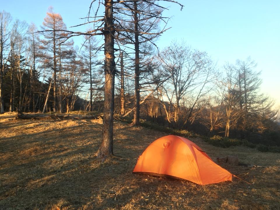 テントで1泊 和名倉岳