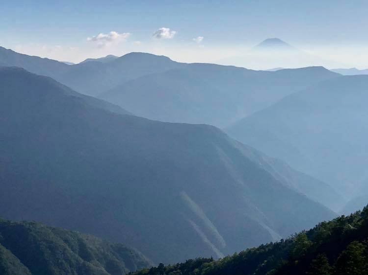 大無間山からの富士山