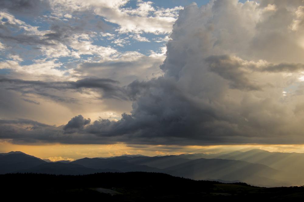 夕刻の高ボッチ高原