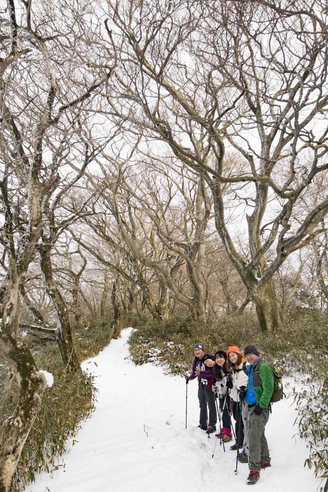 地球探険隊 登山部 雪の筑波山