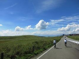 高原サイクリング!気持ちいい〜